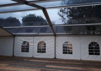 Aluhal transparant dak met vloer opening Wezep