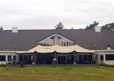 Stretchtent Golfbaan Rijk van Nunspeet horeca overkapping