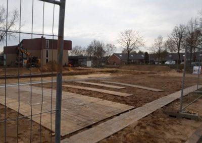 Aluhal tent vloer bouwterrein Ermelo