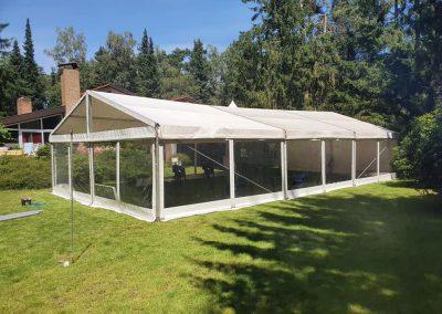 Transparante tent tuin