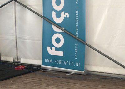 Tent Aluhal overkapping sportschool Elburg