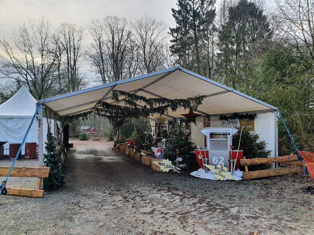 Drive thru tent Het Nieuwe Jachthuis Hoog Soeren NL tenten