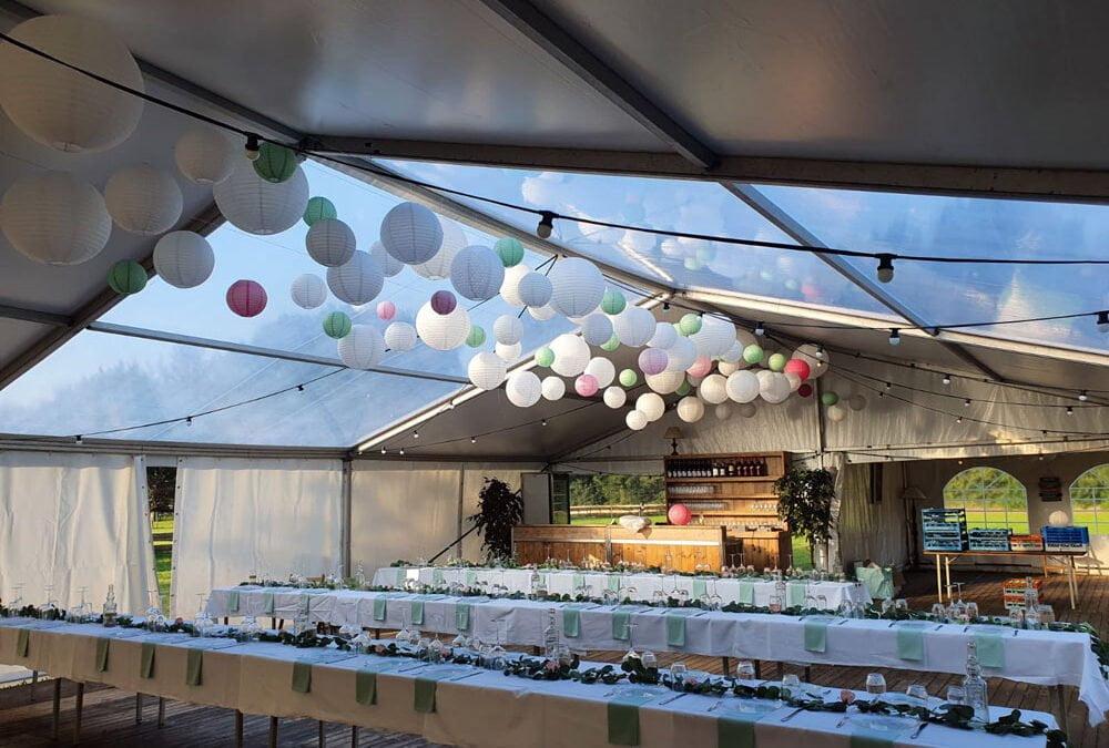 Bruiloft tent 10×10 meter te Hulshorst